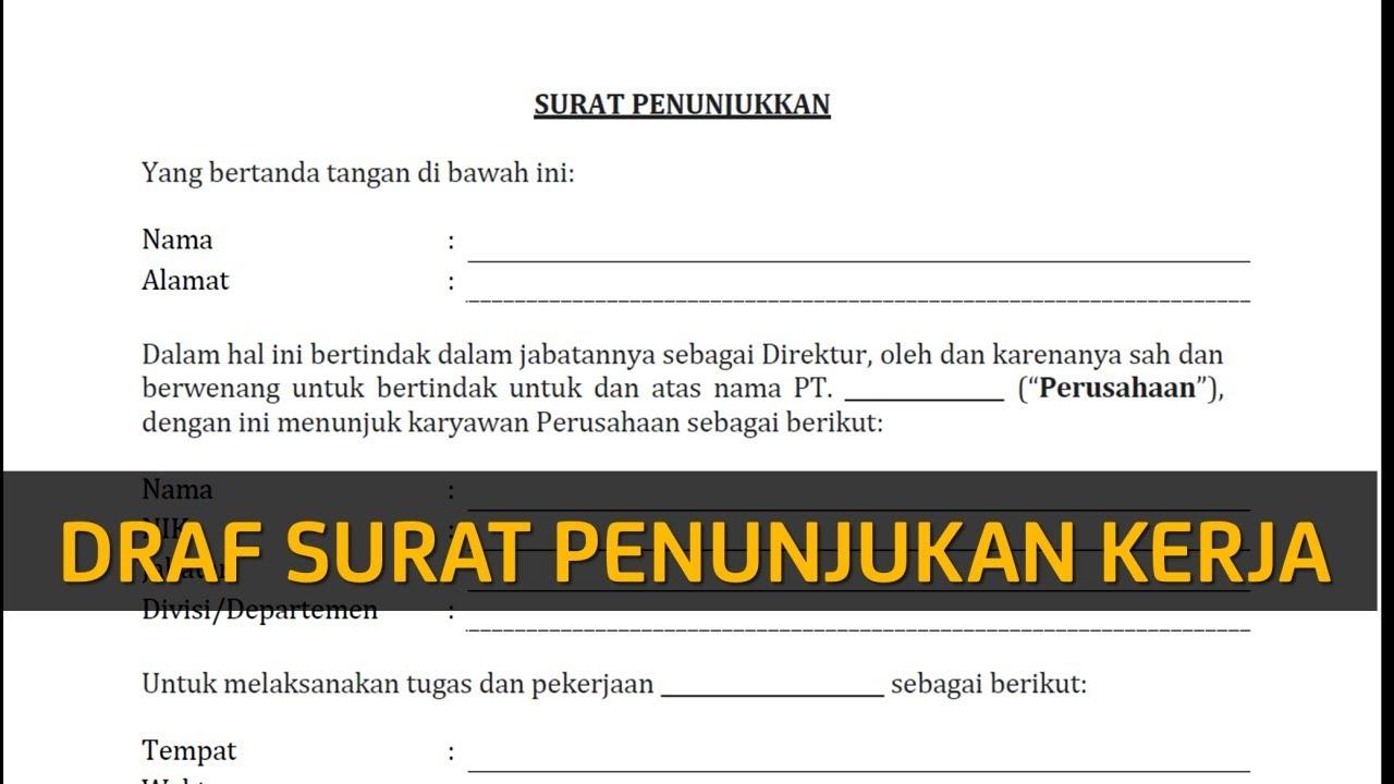 Contoh Surat Penunjukan Kerja Legal Akses