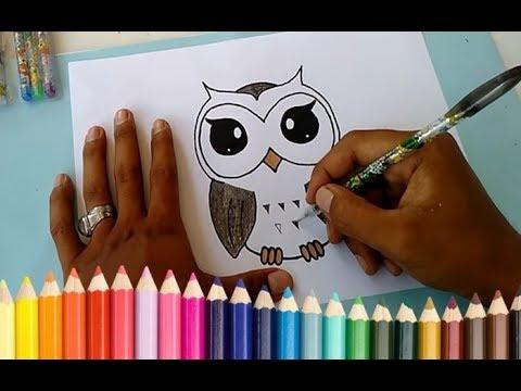 Cara Menggambar Burung Hantu Untuk Pemula Loliasian