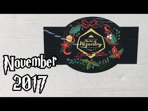November 2017 World of Wizardry Geek Gear SPECIAL EDITION Unboxing
