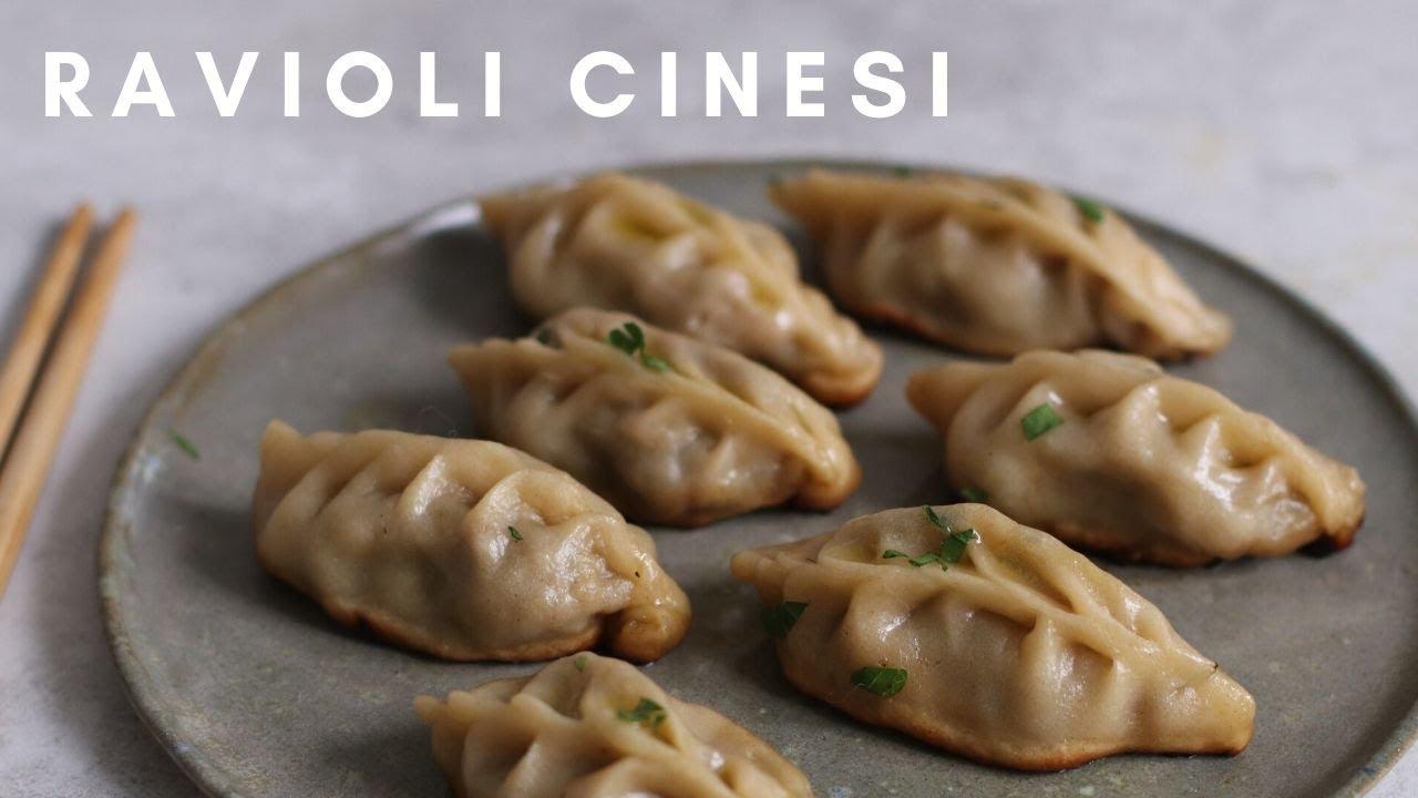 Ricetta Ravioli Cinesi In Padella.Ravioli Cinesi Fatti In Casa Ricetta Facile Youtube
