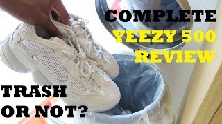 trash or not? yeezy 500 desert rat blush review on foot opinions