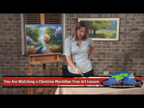Free Art Lesson – Christine MacLellan – Acrylic Techniques