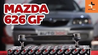 Montaż Drążek wspornik stabilizator przednie prawy MAZDA 626: instrukcje wideo
