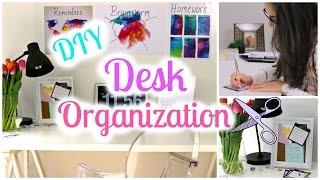 DIY Desk Decor and Organization Ideas | Back To School 2016