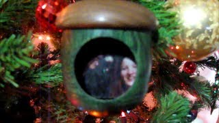 #15 Woodturning A Shadow Box Christmas Ornament