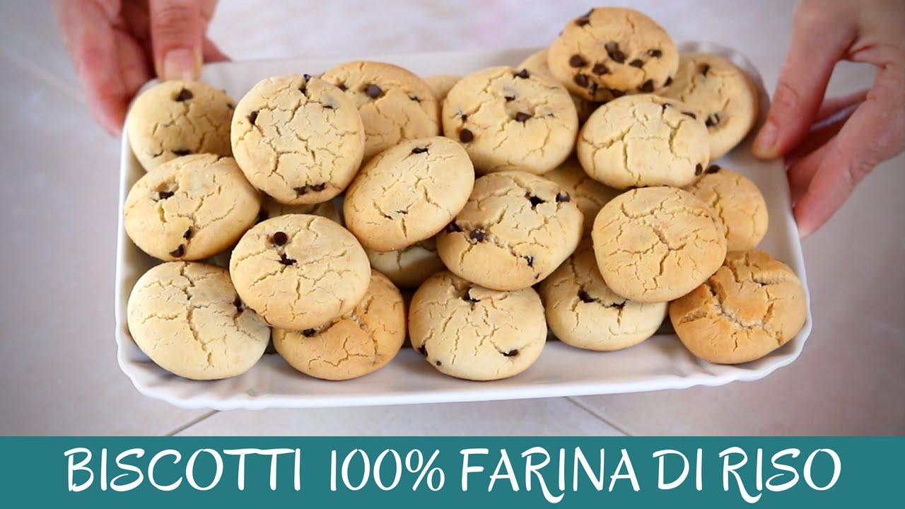 Biscotti Gocciole 100 Farina Di Riso Ricetta Facile E Senza Glutine