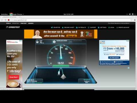 Reliance Jio 4G LTE Speed Test Bangalore Karnataka India