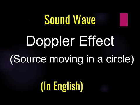Physics: Sound waves - Doppler Effect- source moving in a circle