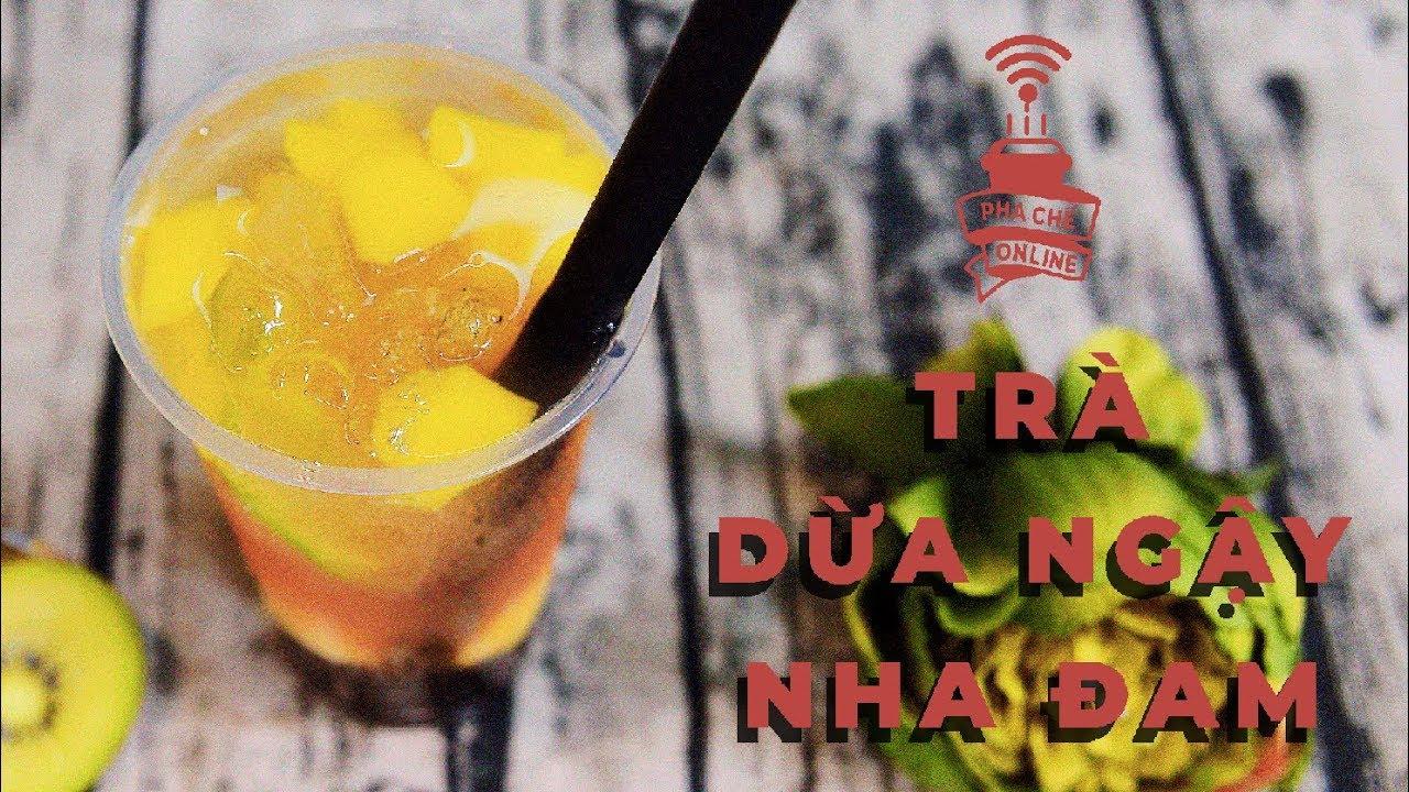 Trà Dừa Ngậy Nha Đam
