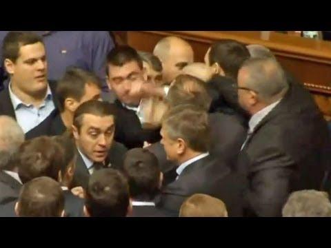Fight breaks out in Ukrainian parliament