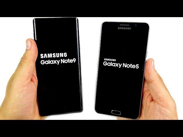 Galaxy Note 9 vs Galaxy Note 5 Speed Test!
