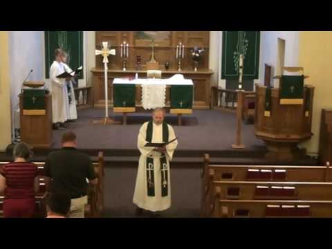 July 3, 2016 - worship at Our Savior's, West Salem, Wisconsin