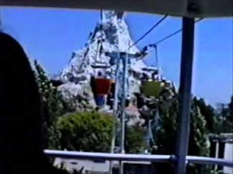 Disneyland's Skyway From Fantasyland To Tomorrowland 1989