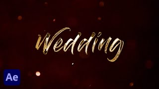 After Effects Tutorial | Golden Wedding Title in After Effects | No Plugins