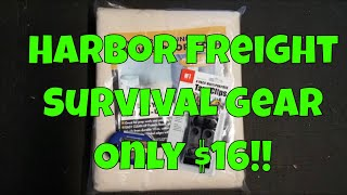 Harbor Freight Survival Gear - Canvas Tarp, Tarp clips and a FREE GIFT!