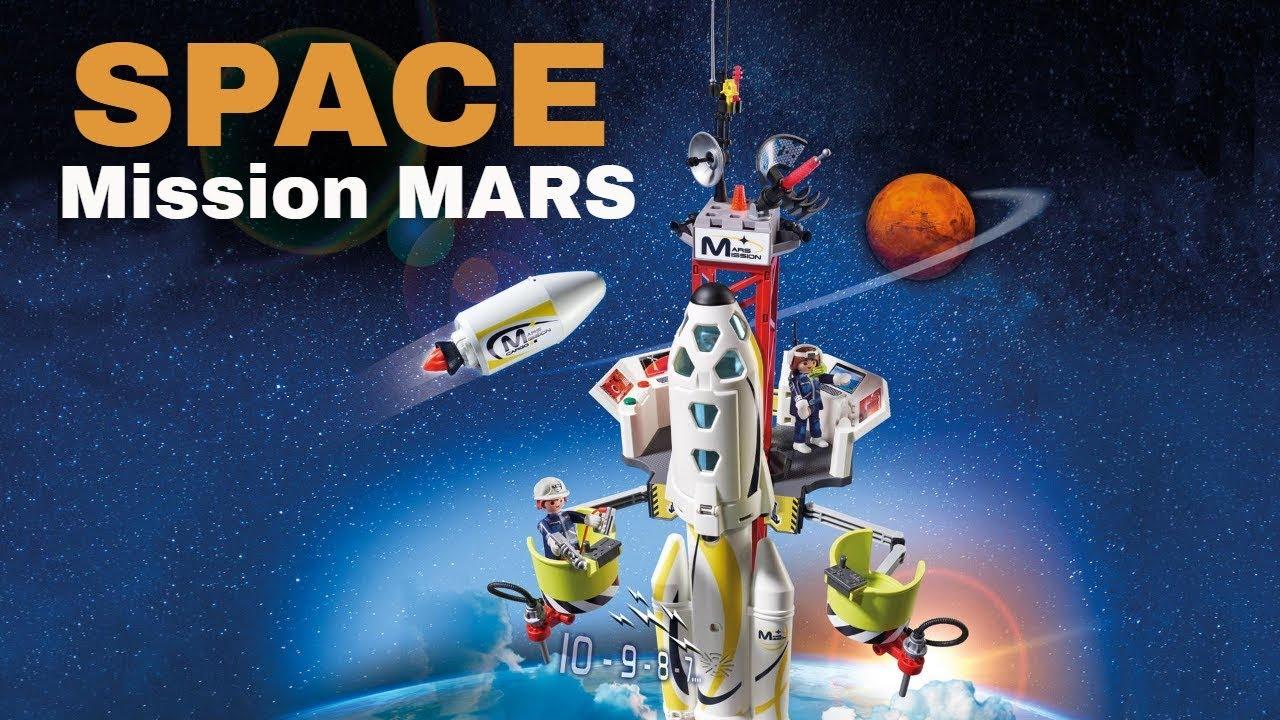 PLAYMOBIL 9487 Spielzeug-Mars-Station /&  9492 Spielzeug-Duo Pack Astronaut und Roboter