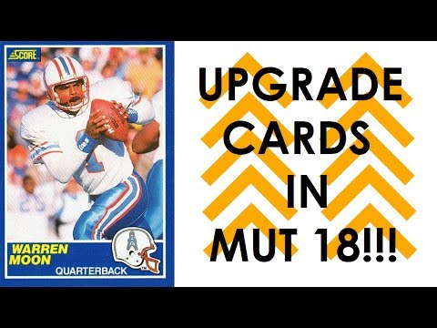MADDEN 18 LEAKS!!! LEGEND WARREN MOON AND UPGRADE YOUR CARDS IN MUT 18!