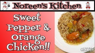 Pressure Cooker Sweet Pepper & Orange Chicken ~ Noreen's Kitchen