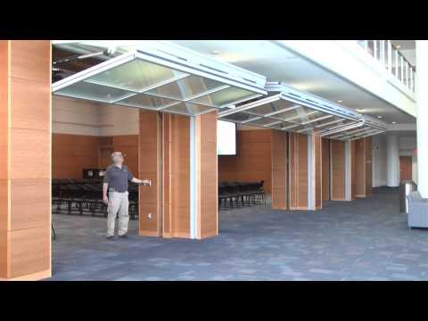 Hydrau Lift Bifold Doors From Hufcor Duke University Youtube