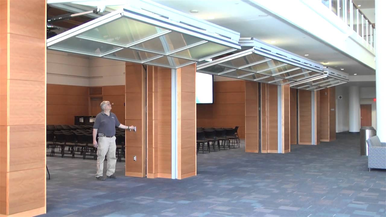 Hydrau Lift Bifold Doors From Hufcor Duke University Youtube