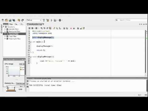 Microsoft Visual Studio C++ Tutorial 14 (Into to functions