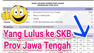 Download Video Yang Lolos ke SKB CPNS Jateng // Hasil SKD CPNS Jawa Tengah 2018 MP3 3GP MP4