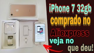 Unboxing de iPhone do Aliexpress | Comprei mais um iPhone 7 32gb Rose