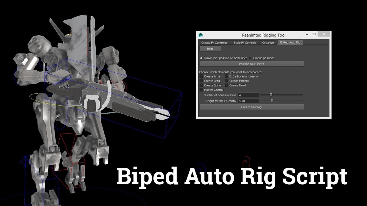 Maya Auto Rig Script Free Download For Biped Character