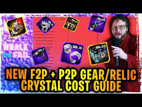 NEW F2P + P2P Complete Farming Cost Guide for EVERY GEAR, RELIC, AND MORE IN SWGOH  - WHALE OR FAIL