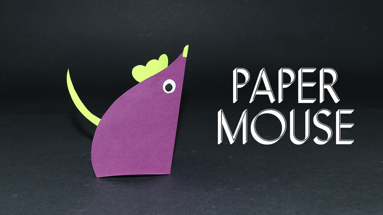 Paper Mouse Easy Fun Craft Ideas For Kids Preschoolers Youtube