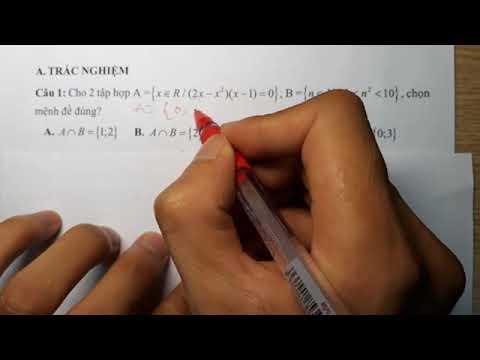 Toán 10 - Đề Kiểm Tra 1 Tiết Chương 1 - Đại Số 10  - Đề Số 2