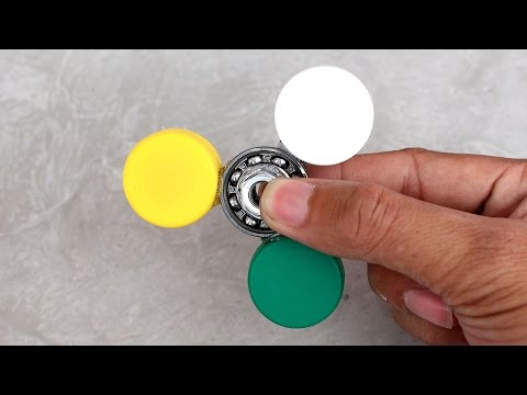 SPINNER TOYS 2 Simple Ways To Make a Fidget Spinner