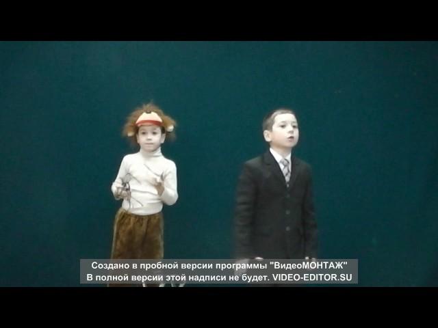 Изображение предпросмотра прочтения – КрасиловыИгорь и Дмитрий читает произведение «Мартышка и очки» И.А.Крылова