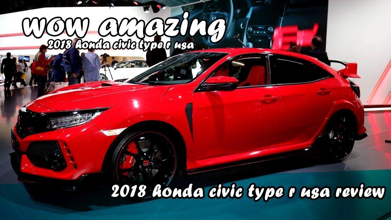 2018 Honda Civic Type R Usa Youtube