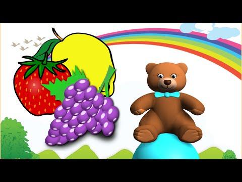 Ovoce pro děti s medvídkem - video pro malé děti