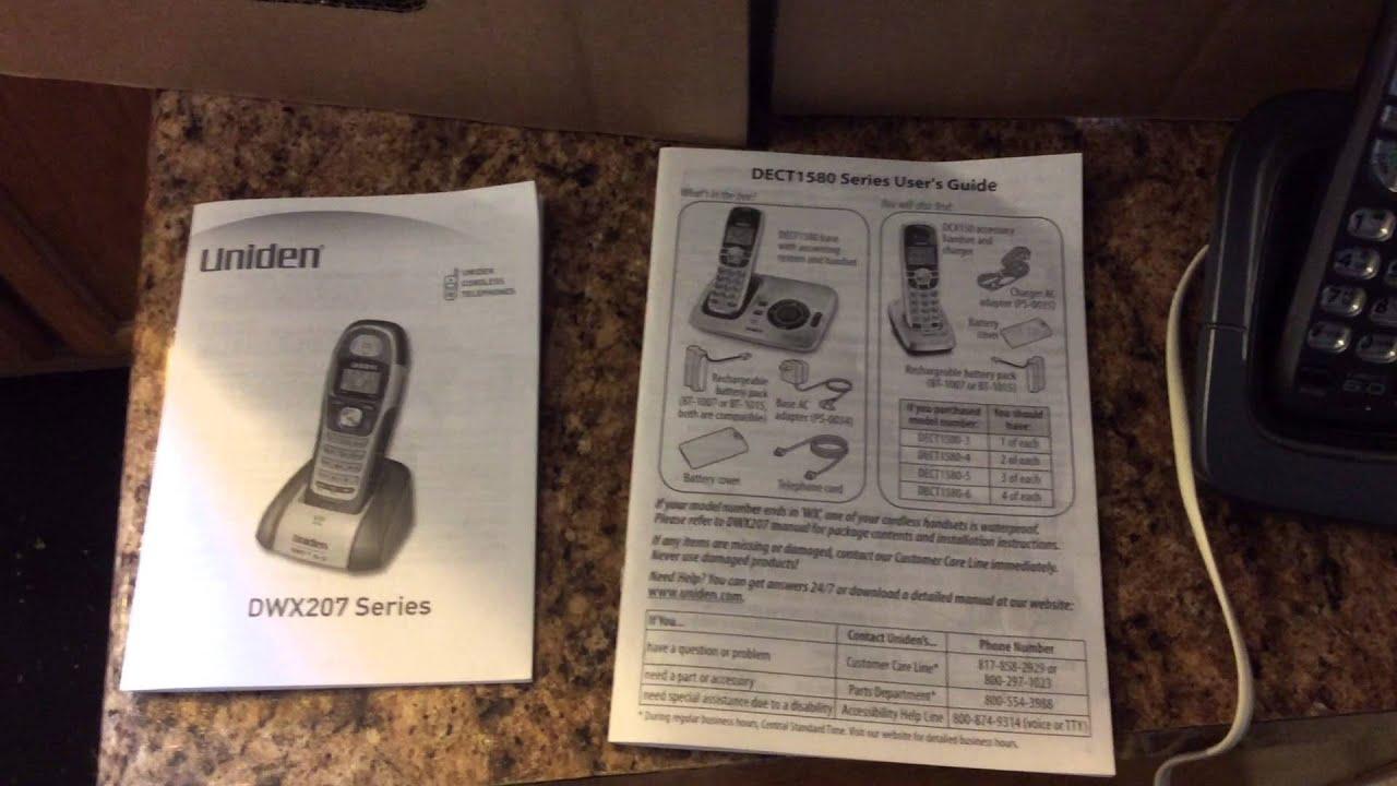 uniden dect 6.0 cordless phone user manual