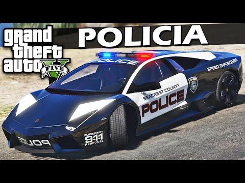 GTA 5 Carro Lamborghini da Policia