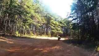 Suzuki DR650 Mule Pack Crash test