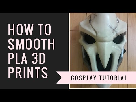 The Cheapest and Easiest Way to Smooth 3d Printed PLA Props and Armor