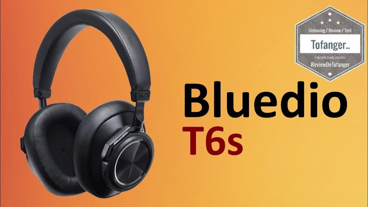97e6b7de95c Bluedio T6S Bluetooth 5.0 ANC - YouTube