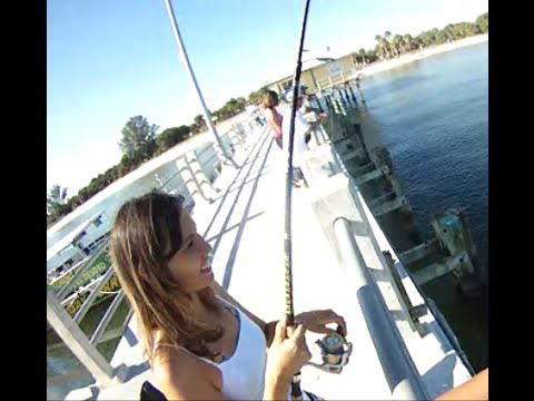 Fort Desoto Florida Park Fishing Pier - (Tampa Bay & St. Petersburg, Florida) GoPro