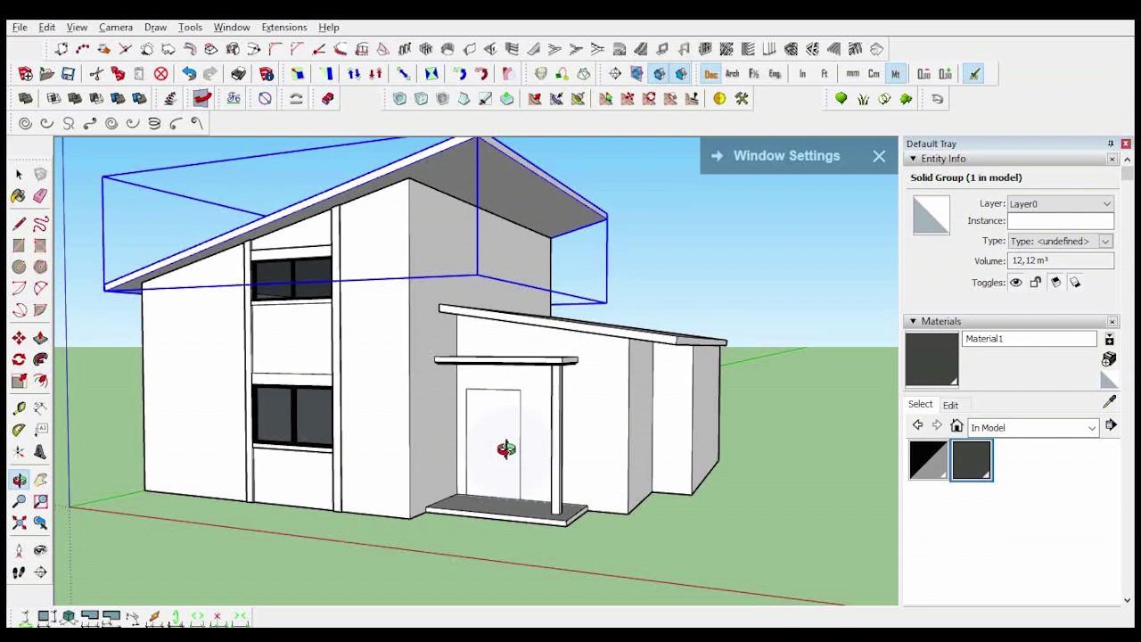 Comment Dessiner Une Maison Moderne Avec Sketchup Pro