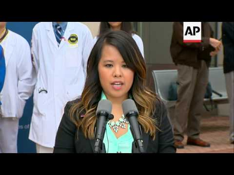 The first nurse diagnosed with Ebola after treating an infected man at a Dallas hospital is free of