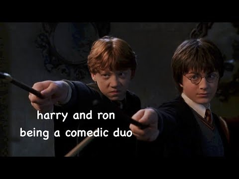 harry and ron being a comedic duo