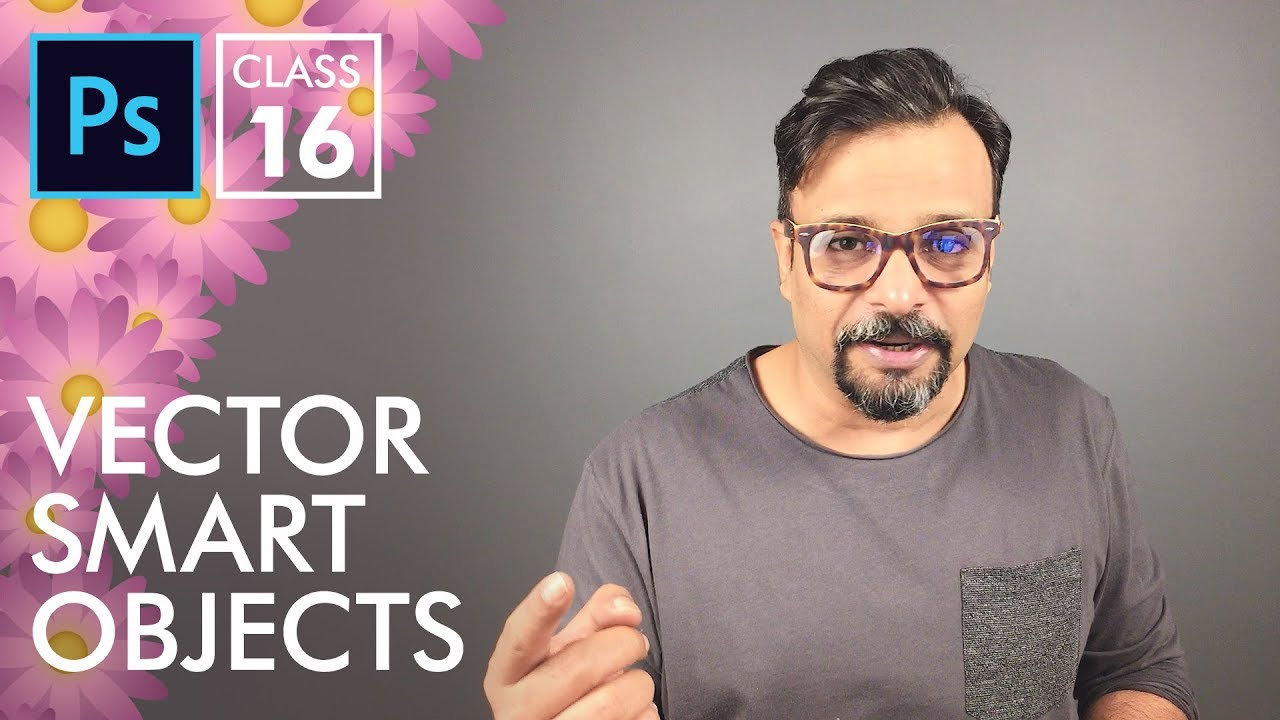 Download Vector Smart Objects - Adobe Photoshop for Beginners - Class 16 - Urdu / Hindi