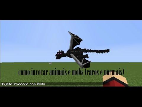 Download Minecraft - Como invocar animais e mobs (raros ou normais) (sem mods, com cheats)
