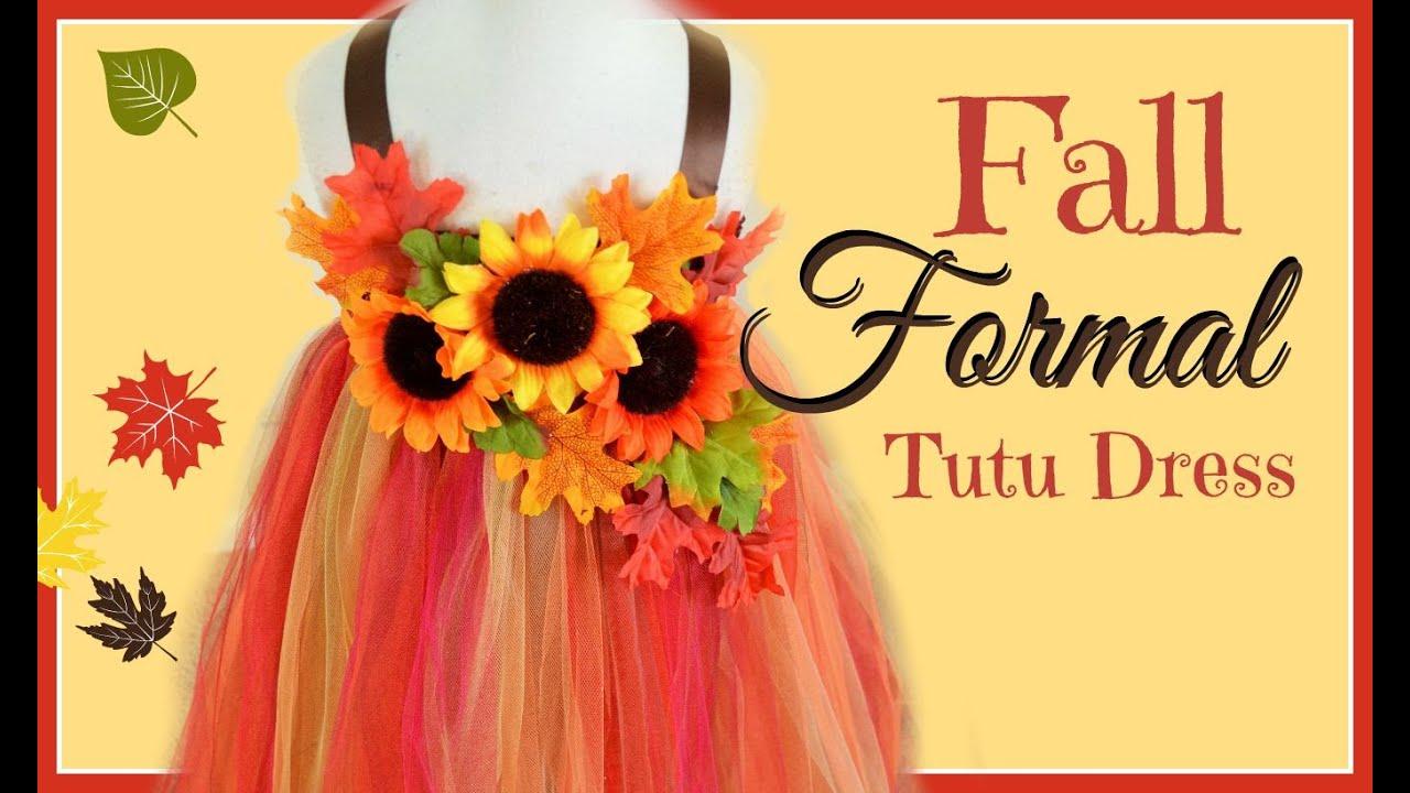 Diy Fall Formal Tutu Dress Youtube