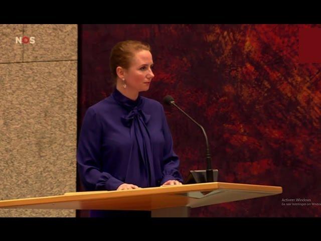 Fleur Agema (PVV) uitgejoeld door Kamer - U doet huilie-huilie