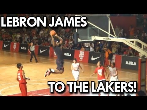 LEBRON JAMES THROWS DOWN TWO SICK DUNKS IN TAIWAN!