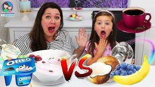REAL FOOD vs. JOGHURT FOOD - Avas erster Kaffee! Geschichten und Spielzeug